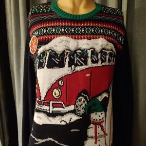 Ugly Christmas Light Up Sweater Pullover Golfing